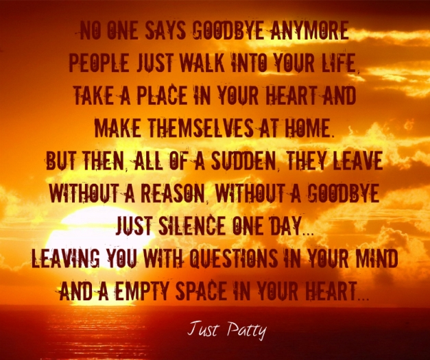 no goodbye quote